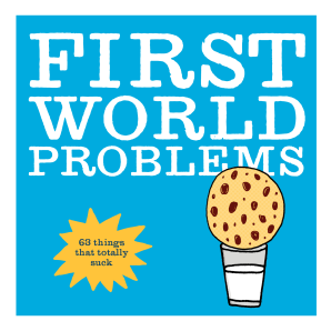 FIRST WORLD PROBLEMS Paperback  by BEAR, MARIAH