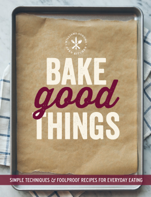 BAKE GOOD THINGS (WILLIAMS-SONOMA) Paperback  by THE EDITORS OF WILLIAMS-S,