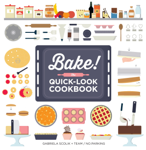 BAKE! THE QUICK-LOOK COOKBOOK Paperback  by SCOLIK, GABRIELA