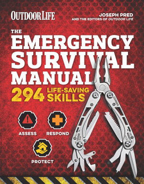 EMERGENCY SURVIVAL MANUAL (OUTDOOR LIFE) Flexicover  by PRED, JOSEPH