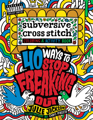 SUBVERSIVE CROSS STITCH COLORING AND ACTIVITY BOOK Paperback  by JACKSON, JULIE