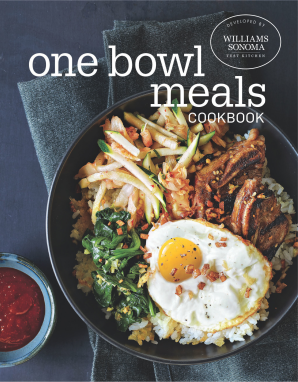 ONE BOWL MEALS COOKBOOK Hardcover  by WILLIAMS SONOMA TEST KITCHEN